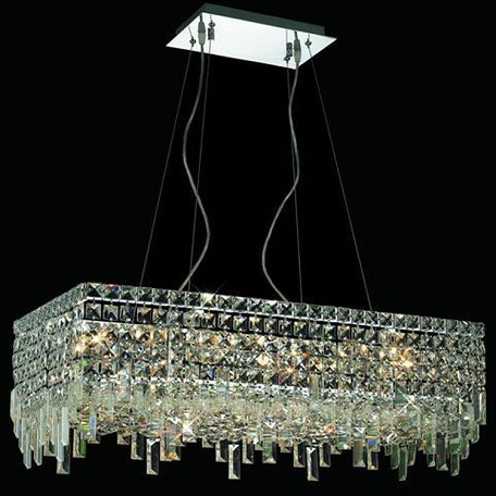 "Maxim Collection 16-Light 14"" Chrome Island Light with Clear  Swarovski Strass Crystal 2035D28C/SS"