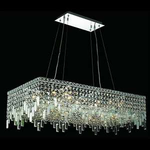 "Maxim Collection 16-Light 18"" Chrome Island Light with Clear Swarovski Spectra Crystal 2035D36C/SA"