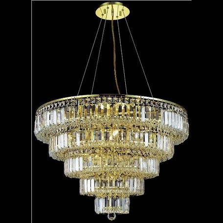 "Maxim Collection 17-Light 30"" Gold Chandelier with Clear Swarovski Spectra Crystal 2036D30G/SA"