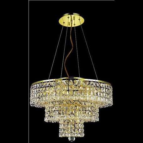 "Maxim Collection 9-Light 20"" Gold Chandelier with Clear  Swarovski Strass Crystal 2037D20G/SS"