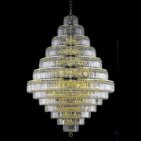 "Maxim Collection 38-Light 42"" Gold Chandelier with Clear Swarovski Spectra Crystal 2038G42G/SA"