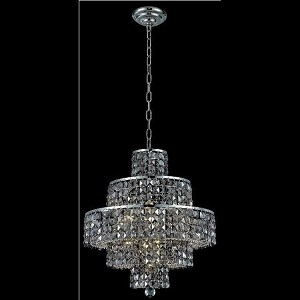 "Maxim Collection 13-Light 20"" Chrome Chandelier with Clear  Swarovski Strass Crystal 2039D20C/SS"
