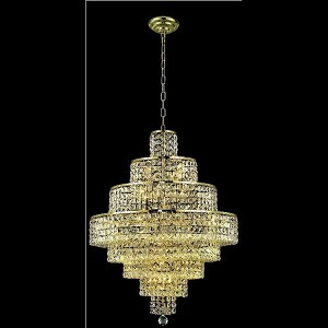 "Maxim Collection 18-Light 26"" Gold Chandelier with Clear  Swarovski Strass Crystal 2039D26G/SS"