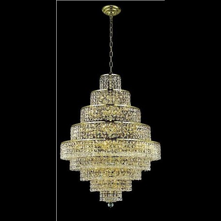 "Maxim Collection 20-Light 30"" Gold Chandelier with Clear Swarovski Spectra Crystal 2039D30G/SA"
