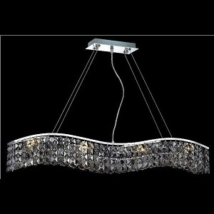 "Contour Collection 8-Light 5"" Chrome Island Light with Silver Shade Grey Swarovski Strass Crystal 2041D36C-SS/SS"