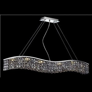 "Contour Collection 10-Light 5"" Chrome Island Light with Clear  Swarovski Strass Crystal 2041D44C/SS"