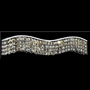 "Contour Collection 6-Light 30"" Chrome Bathbar with Golden Teak Smoky Swarovski Strass Crystal 2041W30C-GT/SS"