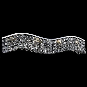 "Contour Collection 6-Light 30"" Chrome Bathbar with Clear Swarovski Strass Crystal 2041W30C/SS"