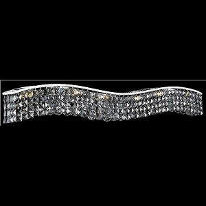 "Contour Collection 10-Light 44"" Chrome Bathbar with Clear Swarovski Strass Crystal 2041W44C/SS"