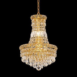 "Tranquil Collection 6-Light 12"" Gold Chandelier with Clear  Swarovski Strass Crystal 2526D12G/SS"