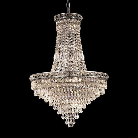 "Tranquil Collection 22-Light 22"" Chrome Chandelier with Clear Swarovski Spectra Crystal 2526D22C/SA"