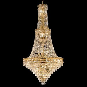 "Tranquil Collection 34-Light 28"" Gold Chandelier with Clear Royal Cut Crystal 2526G28G/RC"