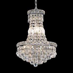 "Tranquil Collection 6-Light 12"" Chrome Chandelier with Clear Royal Cut Crystal 2527D12C/RC"