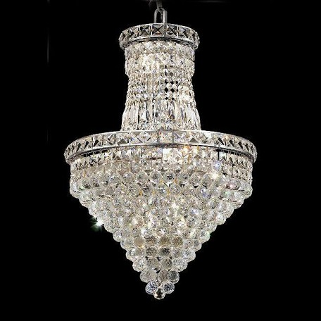 "Tranquil Collection 12-Light 18"" Chrome Chandelier with Clear  Swarovski Strass Crystal 2527D18C/SS"