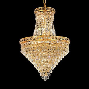 "Tranquil Collection 12-Light 18"" Gold Chandelier with Clear  Swarovski Strass Crystal 2527D18G/SS"