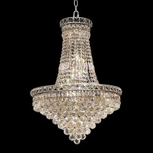 "Tranquil Collection 22-Light 22"" Chrome Chandelier with Clear Royal Cut Crystal 2527D22C/RC"