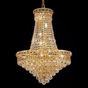 "Tranquil Collection 22-Light 22"" Gold Chandelier with Clear Royal Cut Crystal 2527D22G/RC"