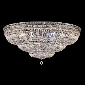"Tranquil Collection 33-Light 48"" Chrome Flush Mount with Clear Royal Cut Crystal 2528F48C/RC"
