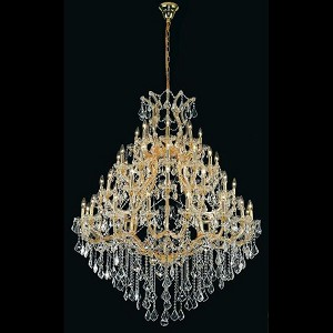 "Maria Theresa Collection 49-Light 46"" Gold Chandelier with Clear Elegant Cut Crystal 2800G46G/EC"