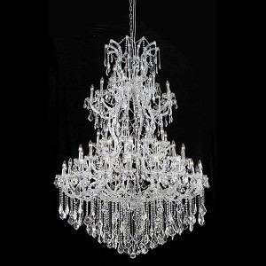 "Maria Theresa Collection 61-Light 54"" Chrome Chandelier with Clear Elegant Cut Crystal 2800G54C/EC"