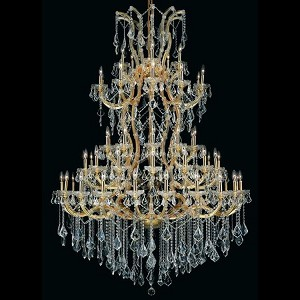 "Maria Theresa Collection 61-Light 54"" Gold Chandelier with Clear Elegant Cut Crystal 2800G54G/EC"