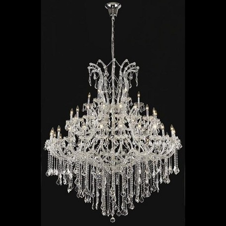 "Maria Theresa Collection 49-Light 60"" Chrome Chandelier with Clear Elegant Cut Crystal 2800G60C/EC"