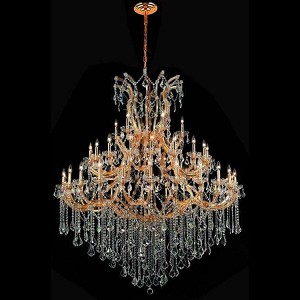 "Maria Theresa Collection 49-Light 60"" Gold Chandelier with Clear Elegant Cut Crystal 2800G60G/EC"