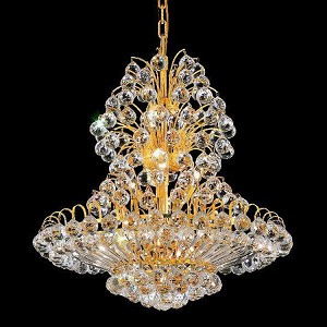 "Sirius Collection 14-Light 24"" Gold Chandelier with Clear Royal Cut Crystal 2908D24G/RC"