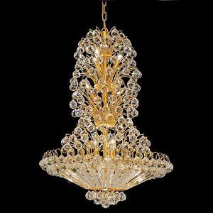 "Sirius Collection 14-Light 28"" Gold Chandelier with Clear Royal Cut Crystal 2908D28G/RC"