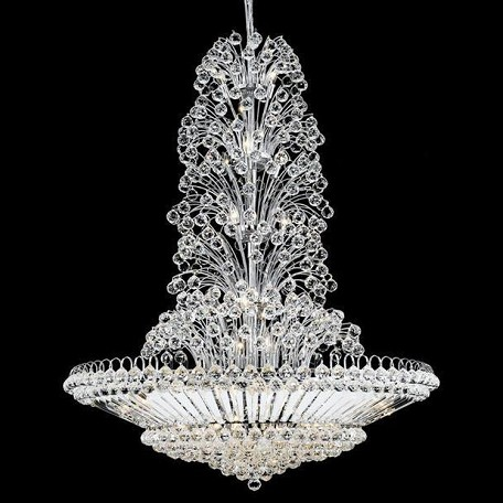 "Sirius Collection 43-Light 48"" Chrome Chandelier with Clear Elegant Cut Crystal 2908G48C/EC"
