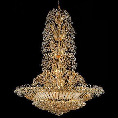 "Sirius Collection 43-Light 48"" Gold Chandelier with Clear Elegant Cut Crystal 2908G48G/EC"