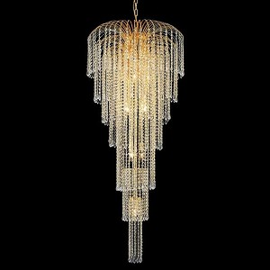 "Falls Collection 11-Light 25"" Gold Chandelier with Clear Royal Cut Crystal 6801G25G/RC"