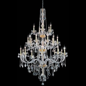 "Verona Collection 25-Light 43"" Gold Chandelier with Clear Royal Cut Crystal 7825G43G/RC"