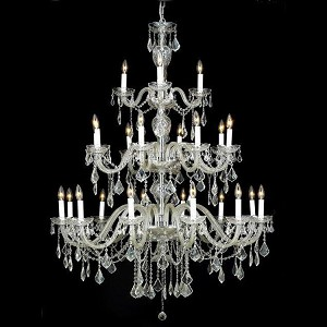 "Alexandria Collection 24-Light 45"" Chrome Chandelier with Clear Swarovski Spectra Crystal 7831G45C/SA"