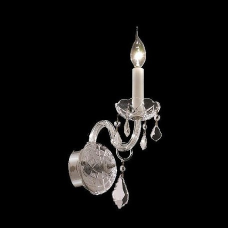"Alexandria Collection 1-Light 8"" Chrome Wall Sconce with Clear Elegant Cut Crystal 7831W1C/EC"