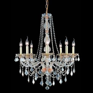 "Verona Collection 8-Light 28"" Golden Shadow Chandelier with Golden Shadow Champagne Royal Cut Crystal 7858D28GS-GS/RC"