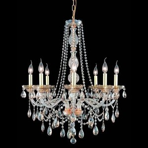 "Verona Collection 8-Light 28"" Golden Shadow Chandelier with Golden Shadow Champagne Royal Cut Crystal 7958D28GS-GS/RC"