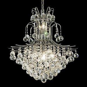 "Toureg Collection 11-Light 22"" Chrome Chandelier with Clear Elegant Cut Crystal 8002D22C/EC"