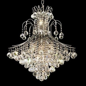 "Toureg Collection 15-Light 25"" Chrome Chandelier with Clear Swarovski Spectra Crystal 8003D25C/SA"
