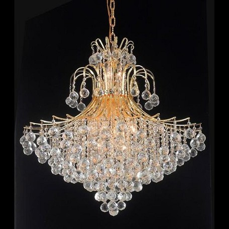 "Toureg Collection 15-Light 31"" Gold Chandelier with Clear  Swarovski Strass Crystal 8005G31G/SS"