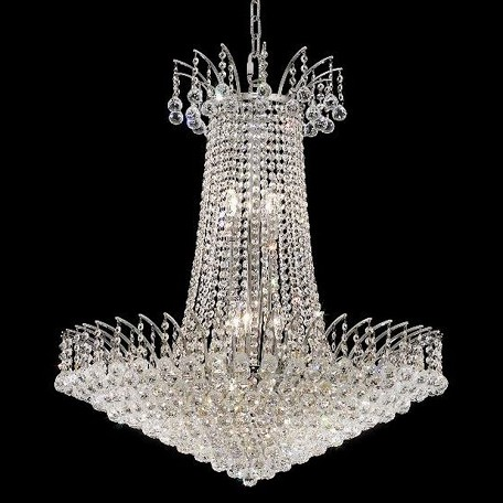 "Victoria Collection 16-Light 29"" Chrome Chandelier with Clear  Swarovski Strass Crystal 8031D29C/SS"