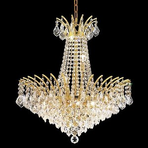 "Victoria Collection 11-Light 24"" Gold Chandelier with Clear  Swarovski Strass Crystal 8033D24G/SS"