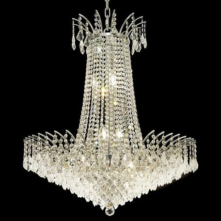 "Victoria Collection 16-Light 29"" Chrome Chandelier with Clear  Swarovski Strass Crystal 8033D29C/SS"