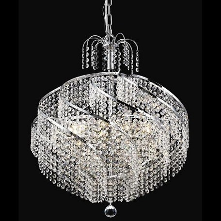"Spiral Collection 10-Light 22"" Chrome Chandelier with Clear  Swarovski Strass Crystal 8052D22C/SS"