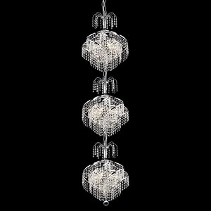 "Spiral Collection 9-Light 14"" Chrome Chandelier with Clear Swarovski Spectra Crystal 8052G14C/SA"