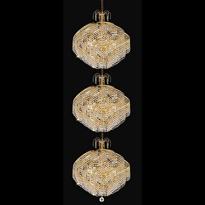 "Spiral Collection 45-Light 26"" Gold Chandelier with Clear  Swarovski Strass Crystal 8052G26G/SS"