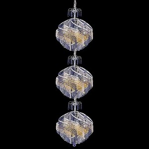 "Spiral Collection 30-Light 22"" Chrome Chandelier with  Swarovski Strass Crystal 8053G22C/SS"