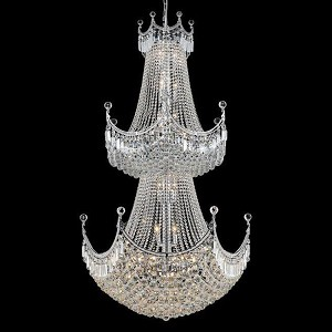 "Corona Collection 36-Light 36"" Chrome Chandelier with Clear Royal Cut Crystal 8949G36C/RC"