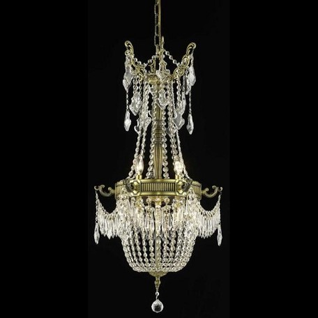 "Esperanza Collection 6-Light 18"" Antique Bronze Chandelier with Clear  Swarovski Strass Crystal 9306D18AB/SS"