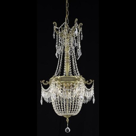 "Esperanza Collection 6-Light 18"" French Gold Chandelier with Clear  Swarovski Strass Crystal 9306D18FG/SS"